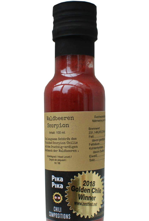 Pika Pika Chili Compositions - Wildberries Scorpion Hot Sauce